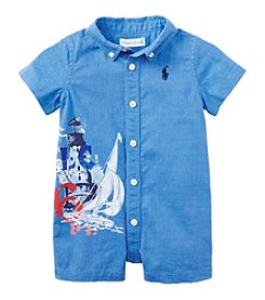 Ralph Lauren Childrenswear Baby Boys Painterly One-Piece Shortalls