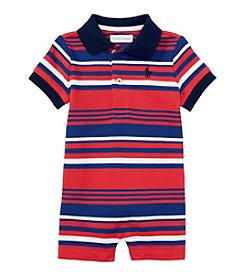 Ralph Lauren Baby Boys' Striped One-Piece Shortall