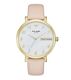 kate spade new york® Women's Vachetta Leather And Goldtone Monterey Watch