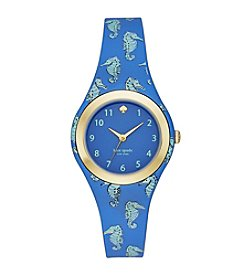 kate spade new york® Women's Blue Silicone And Goldtone Rumsey Watch