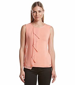 Marc New York Front Ruffle Tank