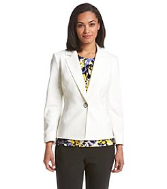 Kasper® One Button Notch Lapel Jacket