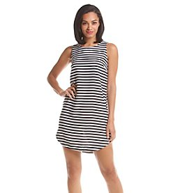 Spense® Stripe Scoop Neck Dress