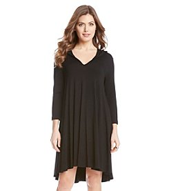 Karen Kane® Hooded Maggie Trapeze Dress
