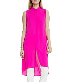 Vince Camuto® High Low Collared Long Tunic