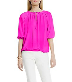 Vince Camuto® Collar Tie Peasant Blouse