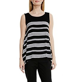 Vince Camuto® Island Stripe Shark Bite Top