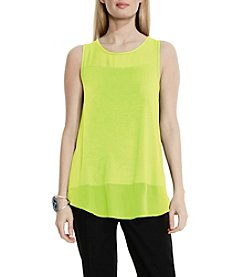 Vince Camuto® Chiffon Yoke And Hem Top