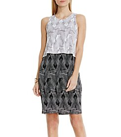 Vince Camuto® Graphic Stripe Popover Dress