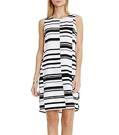 Vince Camuto® Graphic Stagger Stripe Shift Dress