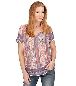 Lucky Brand® Tapestry Printed Top