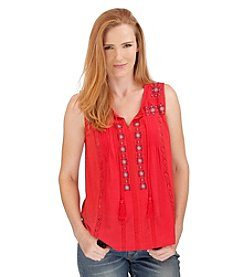 Lucky Brand® Front Tassels Knit Tank