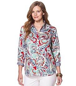 Chaps® Plus Size Paisley Sateen Shirt