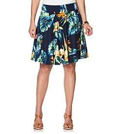 Chaps® Plus Size Tropical Jersey Skirt