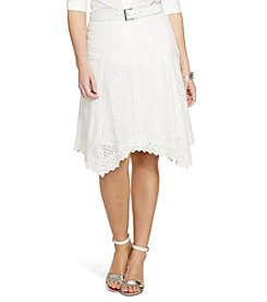 Lauren Ralph Lauren® Plus Size Eyelet Cotton Skirt