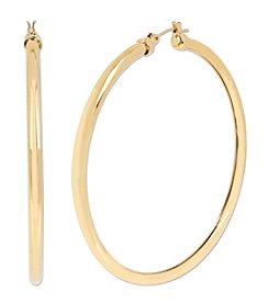 Samara® Large Goldtone Tube Hoop Earrings