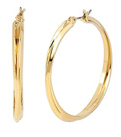 Samara® Goldtone Twisted Hoop Earrings