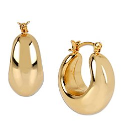 Samara® Small Goldtone Sculptural Hoop Earrings