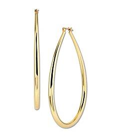 Samara® Large Goldtone Teardrop Hoop Earrings