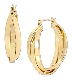 Samara® Goldtone Layered Hoop Earrings