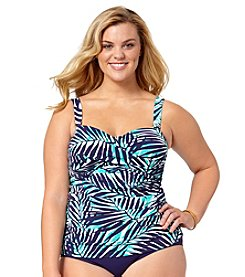 Anne Cole® Plus Size Best Fronds Forever Bandeau Tankini Top
