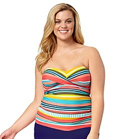 Anne Cole® Plus Size Tropication Twist Front Tankini Top