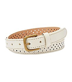 Fossil® Dot Perforated Belt