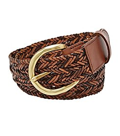 Fossil® Woven Convertible Leather Belt