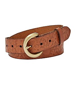 Fossil® Floral Embossed Belt