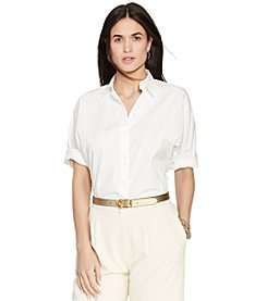 Lauren Ralph Lauren® Dolman-Sleeve Cotton Shirt