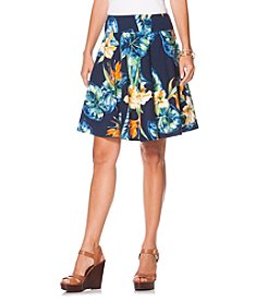 Chaps® Tropical Jersey Skirt