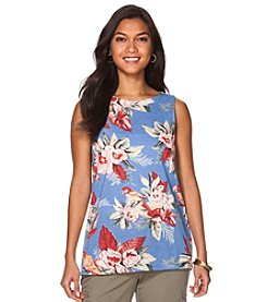 Chaps® Floral Cotton Tank Top