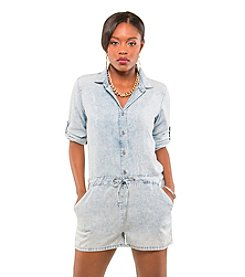 Poetic Justice® Mariah Button-Front Romper
