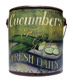 A Cheerful Giver Cucumber Paint Can Candle