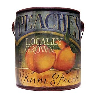 Farm Fresh 20-oz. Juicy Peaches Candle in Ceramic Jar