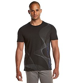 Calvin Klein Men's Short Sleeve Linear Abstract Tee