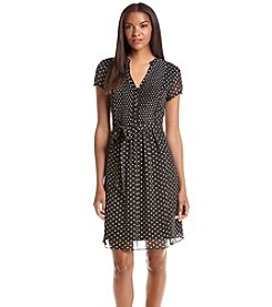 Prelude® Short Sleeve Dot Patterned Dress