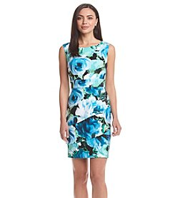 Connected® Floral Tiered Sheath Dress