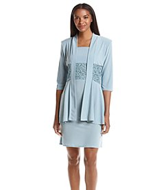 R&M Richards® Lace Trimmed Jacket Dress
