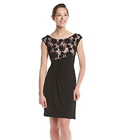 Connected® Petites' Lace Top Dress