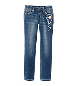 Vigoss® Girls' 7-16 Floral Embroidered Skinny Jeans