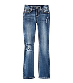 Vigoss® Girls' 7-16 Deconstructed Flare Jeans