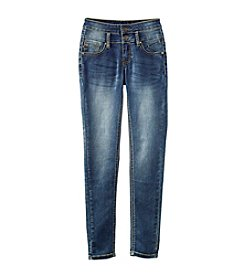 Vigoss® Girls' 7-16 High Waisted Stack Button Skinny Jeans