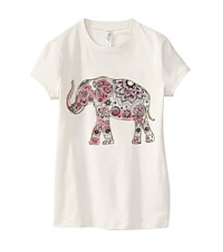 Beautees Girls' 7-16 Short Sleeve Elephant Tee