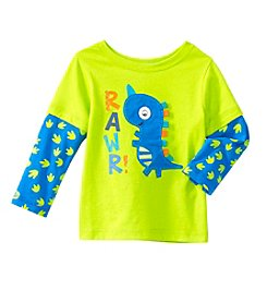 Mix & Match Baby Boys Long Sleeve Layered Dino Skater Tee