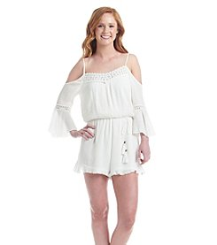 Sequin Hearts® Cold Shoulder Romper