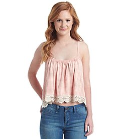 Living Doll® Striped Crochet Trim Swing Tank