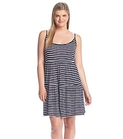 Living Doll® Plus Size Striped Tiered Dress