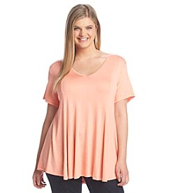 Living Doll® Plus Size V-Neck Tee
