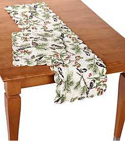 LivingQuarters Chickadee Quilted Table Linens